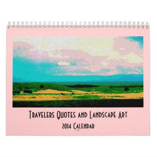 travelers landscape scenery wall calendar