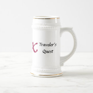 Traveler's Quest Silver Ringed Beer Stein