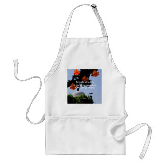 Travelers read the book of the world standard apron