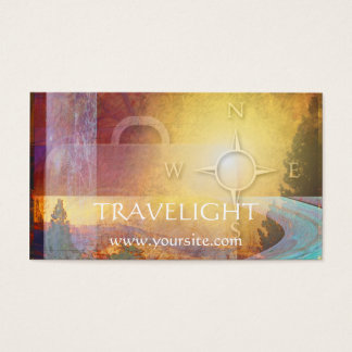 Travelight Travel Agency Business Card