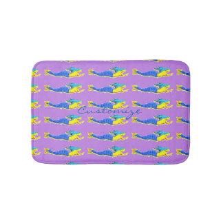 traveling blue-tail mermaids pattern bath mats