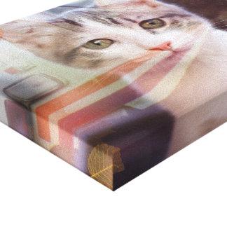Traveling Cat Canvas Print