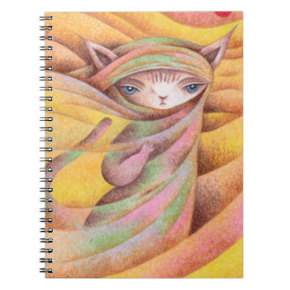 Traveling cat notebook