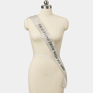 Traveling From Miss to Mrs Travel Bridal Shower Sash
