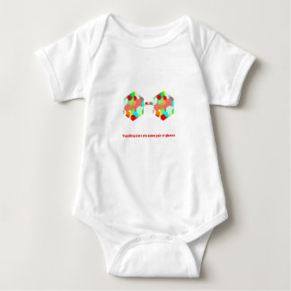 Traveling gives you a new pair of glasses baby bodysuit