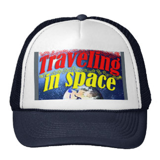 Traveling in space cap