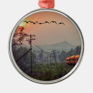 Traveling Metal Ornament