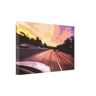 Traveling on Scenic Highway Road Canvas