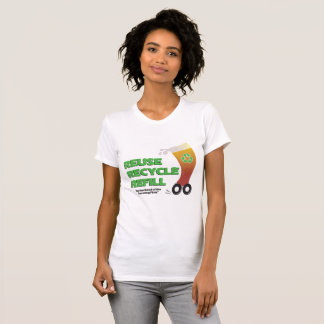 Traveling Pints Recycle Ladies T Shirt