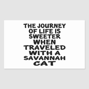 Travelled With Savannah Cat Rectangular Sticker