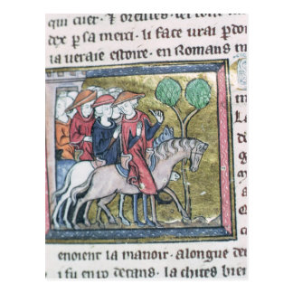 Travellers, from the Roman de Jules Cesar Postcard