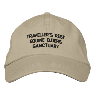 TRAVELLER'S REST EQUINE ELDERS SANCTUARY EMBROIDERED HAT