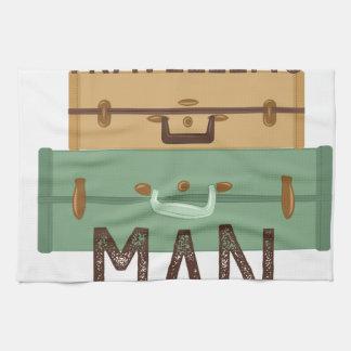 Travelling Man Kitchen Towel