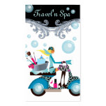 Travelling Spa Business Card Scooter Girl Bubbles