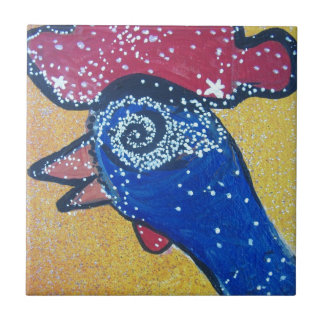 Travelling to the Chicken head galaxy Small Square Tile