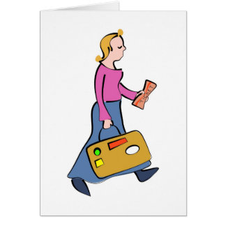 Travelling Woman Card