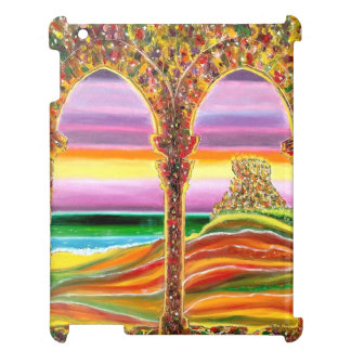 Travels dreamy vision of Italian castle by the sea Case For The iPad