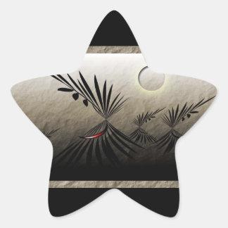 Travels Star Sticker