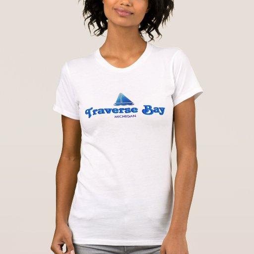 Traverse Bay, Michigan - Micro-Fiber Singlet Tshirt