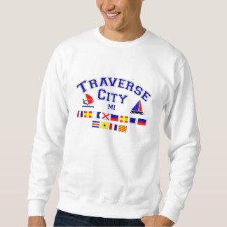 Traverse City MI Signal Flags Sweatshirt