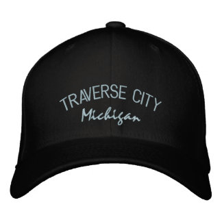 Traverse City Michigan Embroidered Hat
