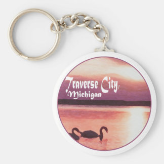 Traverse City, Michigan Key Ring
