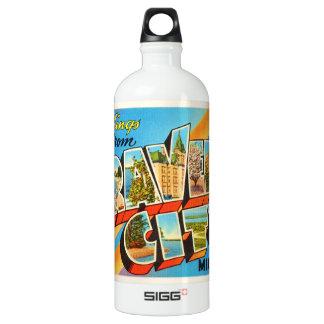 Traverse City Michigan MI Vintage Travel Souvenir SIGG Traveller 1.0L Water Bottle