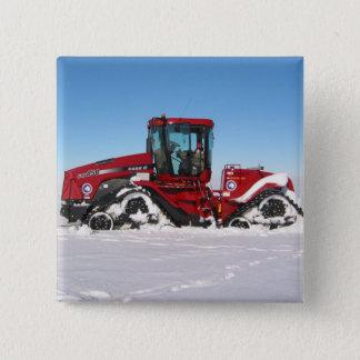 Traversing Arctic Tractor 15 Cm Square Badge
