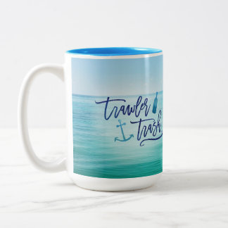 Trawler Trash - (This might be rum) Two-Tone Coffee Mug