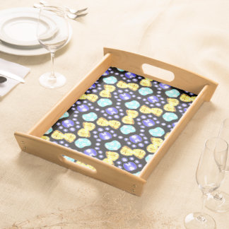Tray Jimette Design blue yellow on black