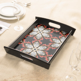 Tray Jimette Design red white on black