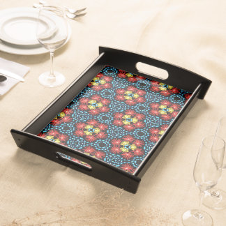 Tray Jimette Design red yellow blue on black