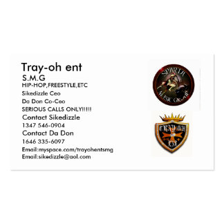 tray-oh logo1, spartamusicgroup2, Tray-oh ent, ... Pack Of Standard Business Cards