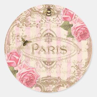 Tre Chic Paris Rose Stickers or Envelope Seals