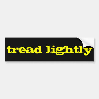 tread lightly bumper sticker
