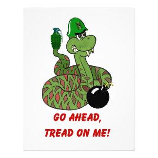 Tread on Me! 21.5 Cm X 28 Cm Flyer