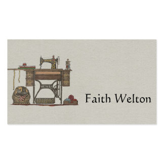 Treadle Sewing Machine & Kittens Business Cards