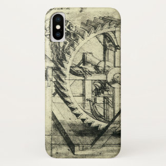 Treadmill Powered Crossbow by Leonardo da Vinci iPhone X Case