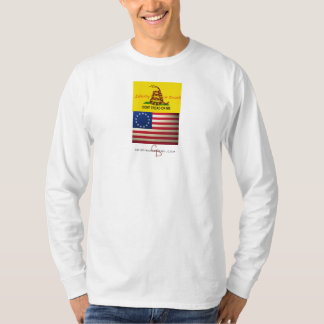 treadonme copy, revolutionary-war-flag, cd-logo-wt T-Shirt