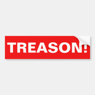 TREASON! BUMPER STICKER