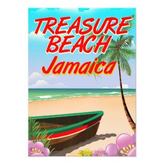 Treasure beach Jamaica travel poster Art Photo