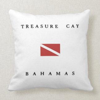 Treasure Cay Bahamas Scuba Dive Flag Pillows