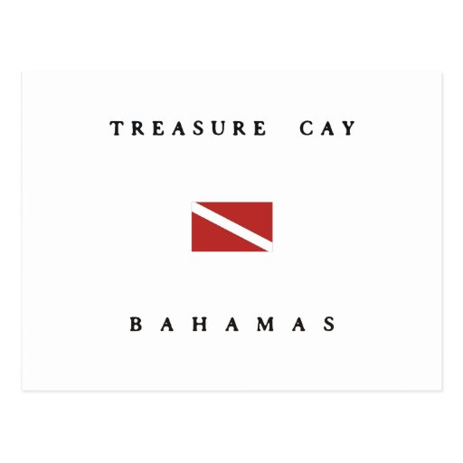 Treasure Cay Bahamas Scuba Dive Flag Post Card