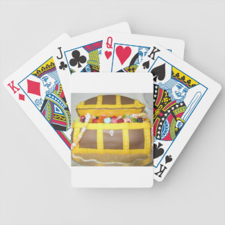 Treasure chest cake bicycle playing cards