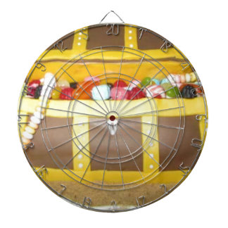 Treasure chest cake dartboard