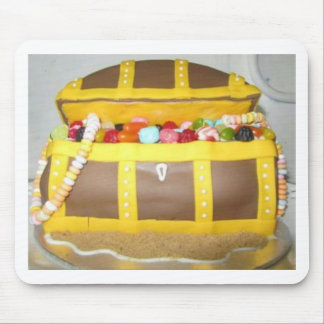 Treasure chest cake mouse pad