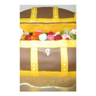Treasure chest cake stationery
