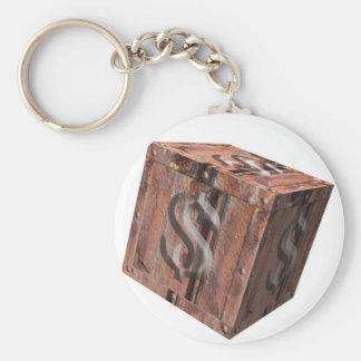 treasure chest - Dollars - national budget - finan Key Ring