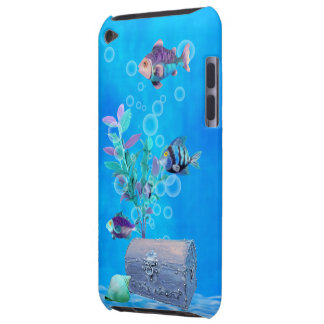 Treasure Chest & Pretty Fish in the Ocean Barely There iPod Cases