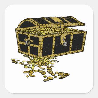 Treasure Chest Square Sticker